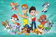 PAW Patrol main characters, cast promo art
