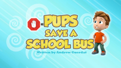 Pups Save a School Bus (HQ)