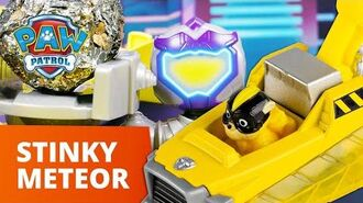 PAW Patrol Mighty Pups Charged Up Stop Humdinger's Super Stinky Meteor Toy Episode PAW Patrol