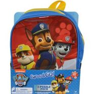 Puzzle in backpack