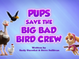 Pups Save the Big Bad Bird Crew