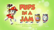 PAW Patrol Pups in a Jam Title Card