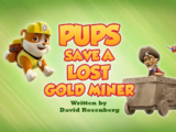 Pups Save a Lost Gold Miner