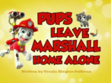 Pups Leave Marshall Home Alone