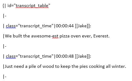 Transcripts Example
