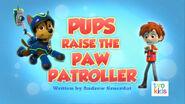 PAW Patrol Pups Raise the PAW Patroller Title Card