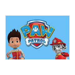 Ryder, Marshall and the PAW Patrol logo.