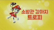 퍼피 구조대 소방관 강아지 트로피