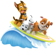 PAW Patrol Marshall Rubble Chase Summer Surfboard