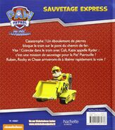 PAW Patrol Pat' Patrouille Sauvetage express Back Cover