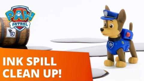 PAW Patrol Ink Spill Adventure Clean Up! Toy Episode