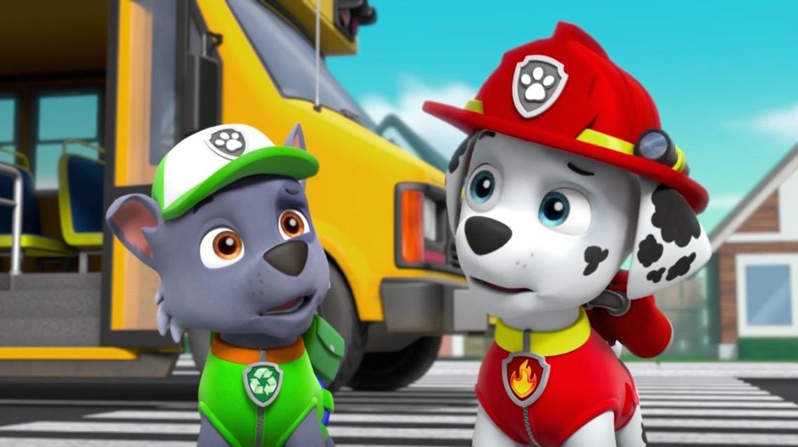 Wonderful PAW Patrol Pups Save A School Bus Scene 51 Marshall Rocky