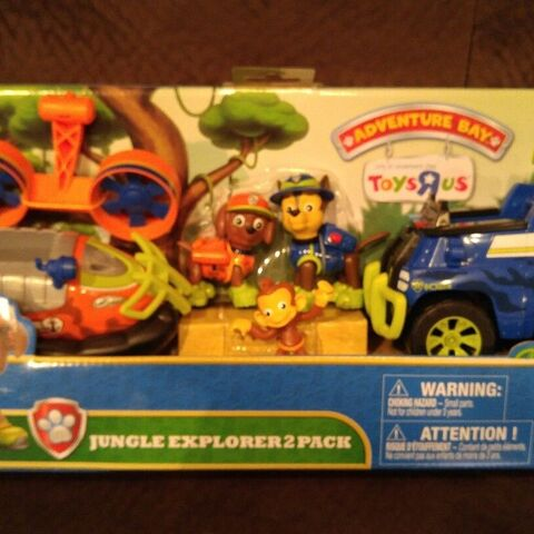 Zuma's Jungle Hovercraft + Chase's Jungle Cruiser + Mandy figure (Toys