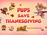 Pups Save Thanksgiving
