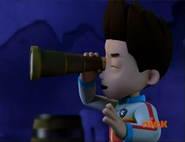 Ryder uses pirate's telescope