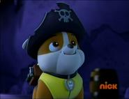 Rubble wears a pirate hat
