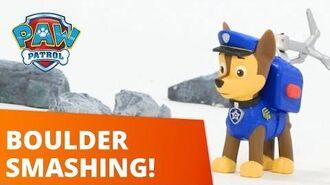 PAW Patrol Boulders Blocking Adventure Bay! Toy Episode