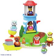 PAW Patrol Seal Island Lighthouse Weebles Playset with the Flounder, Wally and Row Boat