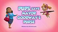 Pups Save Mayor Goodway's Purse