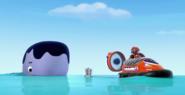 PAW Patrol - Baby Whale and Zuma's Hovercraft - Bay 4