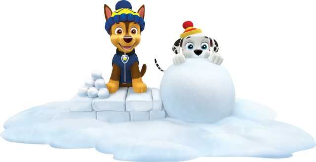 File:PAW Patrol Marshall and Chase Winter Snow.png