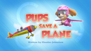 PAW Patrol Pups Save a Plane Title Card