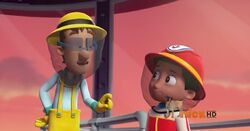 PAW Patrol Cap'n Turbot Captain Bees and Ryder