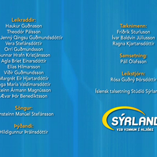 Credits for Season 1 in Icelandic