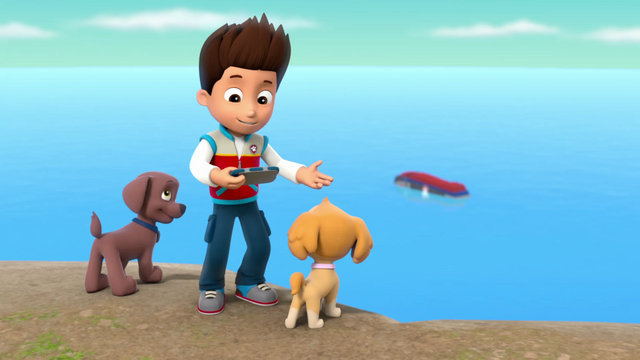 File:PAW Patrol Pups Raise the PAW Patroller Ryder, Zuma and Skye.png