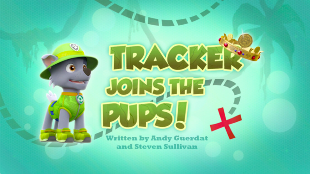 File:PAW Patrol Tracker Joins the Pups! Title Card.png