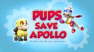 PAW Patrol Apollo Title Card