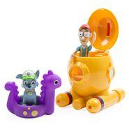 PAW Patrol Cap'n Turbot Captain Turbot Toy Diving Bell Bath Playset Figure 3