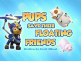 Pups Save Their Floating Friends