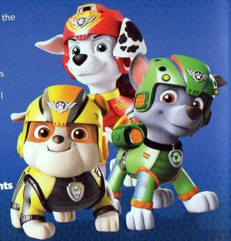 File:Air Pups Marshall, Rubble & Rocky.JPG