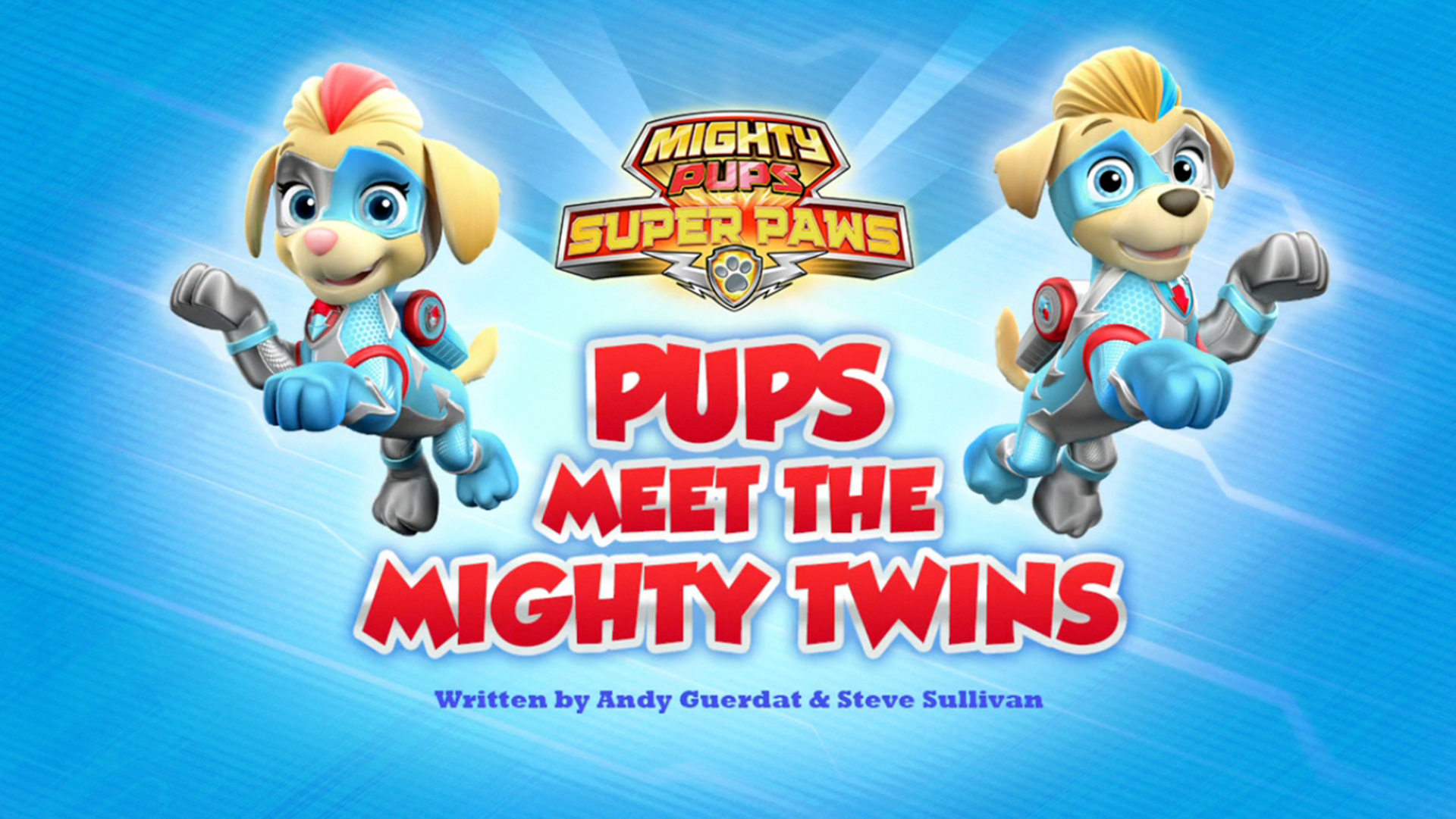 Mighty Pups Super Paws Pups Meet The Mighty Twins Paw