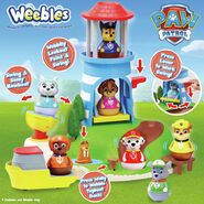 PAW Patrol Seal Island Lighthouse Weebles Playset with the Flounder, Wally and Row Boat 3