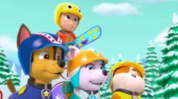 PAW Patrol Pups Save a Snowboard Competition Scene 9