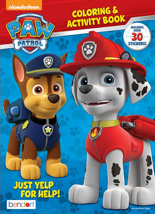 Paw Patrol Coloring and Activity Book Set (3 Coloring Books) Paw Patrol
