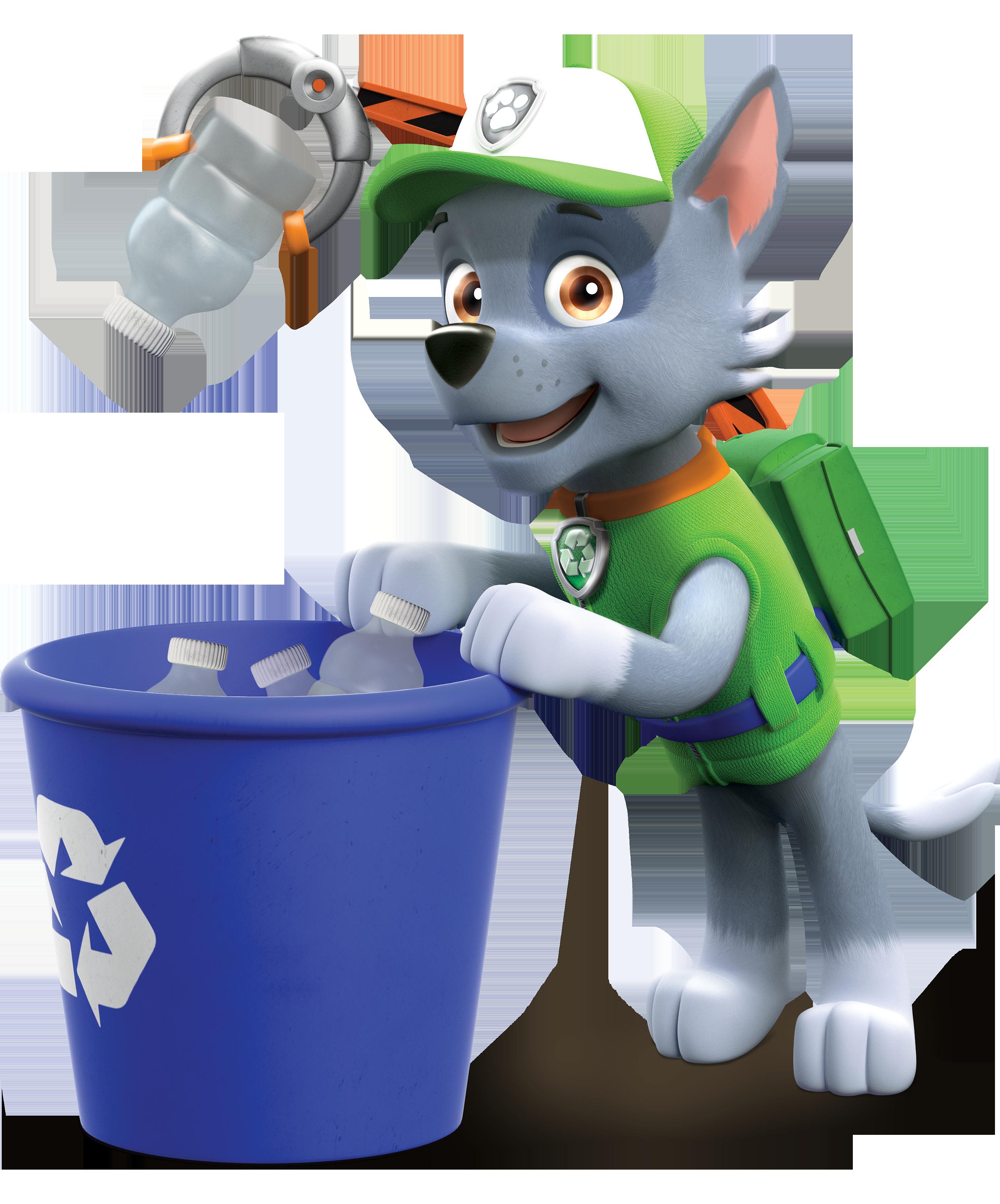 Awesome PAW Patrol Rocky Recycling Bin.png
