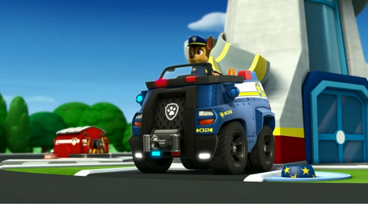 Superb Chase In His Police Truck.png