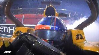 Alonso, Hamilton & Vettel Do Donuts! 2018 Abu Dhabi Grand Prix
