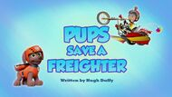 Pups Save a Freighter