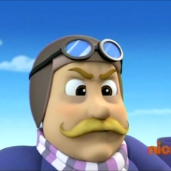 Mayor Humdinger wearing his balloon racing outfit in