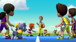PAW Patrol Pups Save a Basketball Game Adventure Bay All-Stars Foggy Bottom Boomers Cap'n Turbot