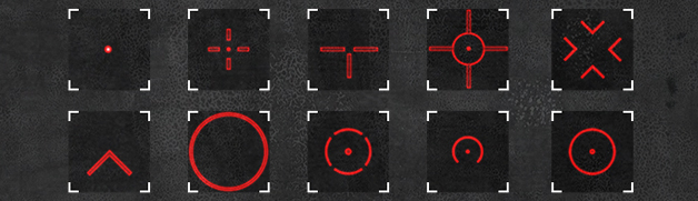 Gage mod reticles