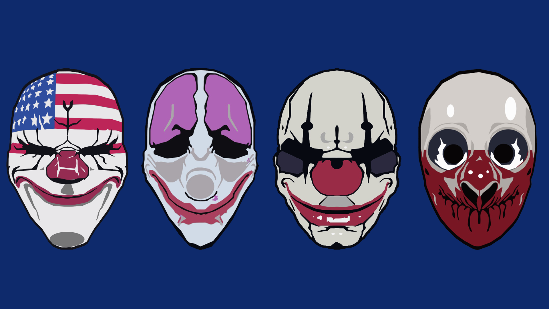 Group Of Payday Masks Wallpaper 2