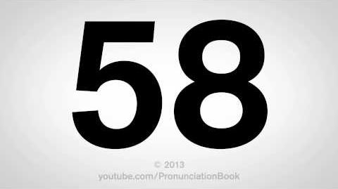 How to Pronounce 58