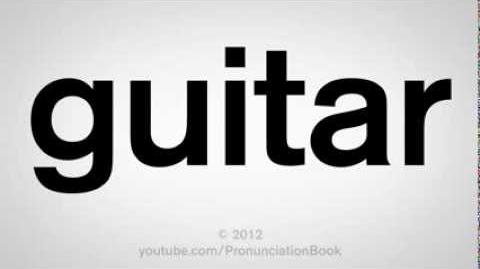 How to Pronounce Guitar