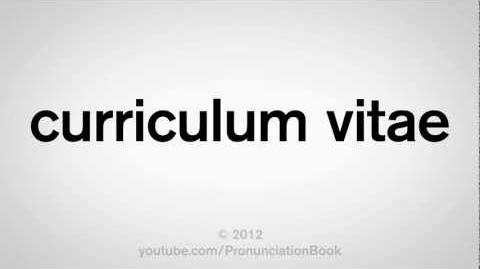 Video How To Pronounce Curriculum Vitae