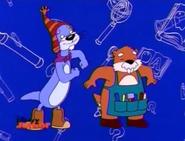 Mayor Jeff and Woodrow Woodchuck Noodle Dancing